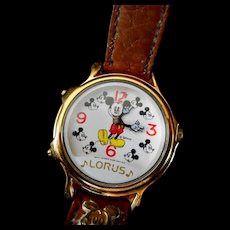 """Mickey Mouse Watch by Lorus """"Melody Mickey"""""""