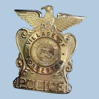 Authentic Village Police Badge  ** Forreston Illinois
