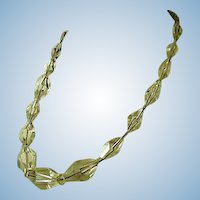 Crystal Clear Faceted Glass Necklace