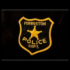 Authentic and Original Police Patches from Forreston Illinois