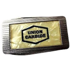 Union Carbide Advertising Money Clip / Pocket Knife