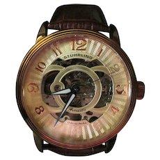 Wonderful Gentleman's Stuhrling Skeleton Automatic Wrist Watch