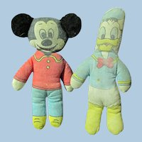Disney Mickey and Donald small cloth Doll Figurines