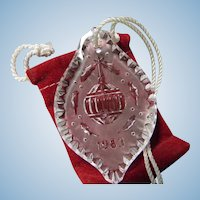 Waterford 1983 Crystal Christmas Ornament