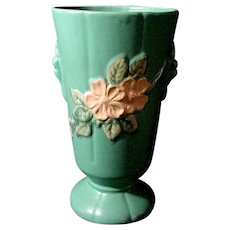 Weller Matt Green with Apple Blossoms Large Vase