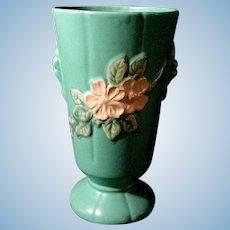 Weller Matt Green with Apple Blossoms Large Vase