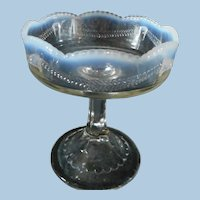Jefferson Glass Swag w/ Brackets French Opalescent Compote EAPG