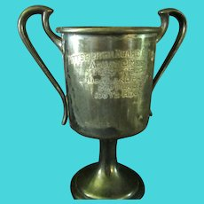 1923 Silver Plated Swimming Trophy