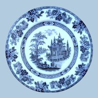"Flow Blue  ""Madrid"" Pattern by Doulton"