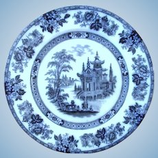 """Flow Blue  """"Madrid"""" Pattern by Doulton"""