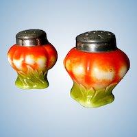 Victorian Glass Tomato Salt & Pepper Shakers