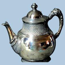 Exquisite Rockford Silver Plate Tea Pot Pattern #177