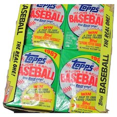 Unopened 1987 Topps Baseball Bubble Gum Cards