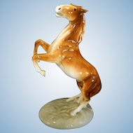 Large Rearing Stallion Figurine by Royal Dux
