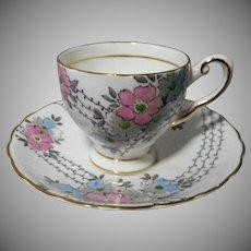 English Tuscan Bone China Demitasse Cup & Saucer