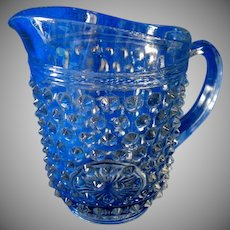 1960's English Hobnail Juice Pitcher