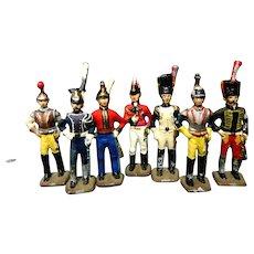7 Vintage Toy Die Cast  Soldiers