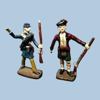 Set of 2 Vintage Die Cast Toy Soldiers