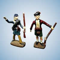 Set of 2 Vintage Die Cast Toy Soldiers