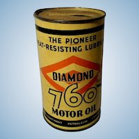 1938 Diamond D-X Motor Oil Can Bank