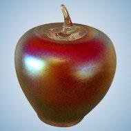 Beautiful Art Glass Apple Paperweight by Levay  **Gary Levi**