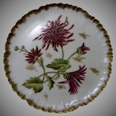 1882 Hand Painted Chrysanthemums Haviland France Decorative Plate