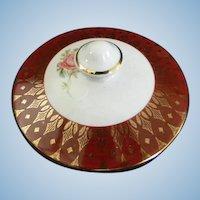 Sugar Bowl Lid for Cronin Pottery **Royal Rajah Maroon ** Pattern