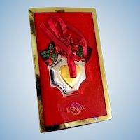 Lenox Williamsburg Heart Christmas Ornament  **Older Stock, New in Box