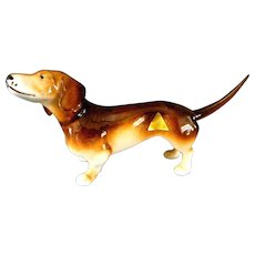 Royal Dux Ceramic Dachshund Figurine