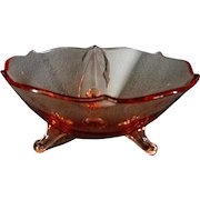 Pink Depression Glass Footed Candy Bowl