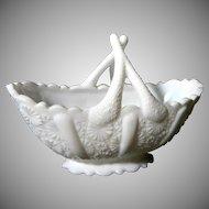 Pretty Pure White Fenton Basket