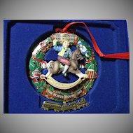 Fancy Biltmore Estate & White House Historical Christmas Ornament