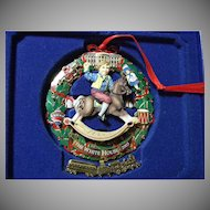 Fancy Biltmore Estate & White House Historical Christmas Ornament