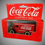 1967 Coca Cola Die Cast Metal Toy Truck in Original Box