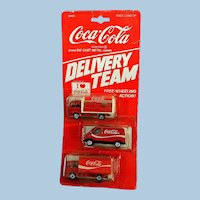 Die Cast Metal Toy Company Set of 3 Coca Cola Delivery Trucks