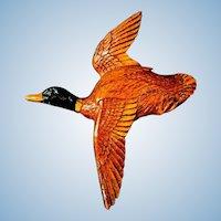 Syroco Flying Mallard Duck