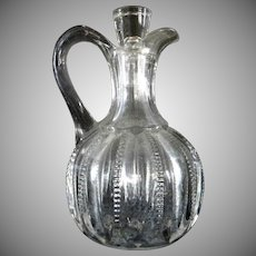 Vintage Clear Glass Cruet