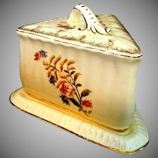 Victorian Cheese Keeper Hand Painted