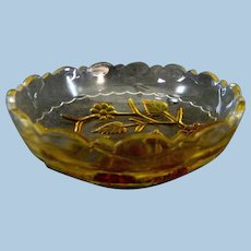 Hobbs Leaf & Flower Berry Bowl  **  EAPG