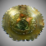 Imperial Glass Co. Windmill Pattern Berry or Sauce Bowl Green