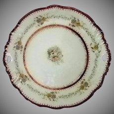 C.T. Germany Cake Plate w/ pierced Handles