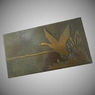 Silver Crest Mallard Duck  Dresser Box