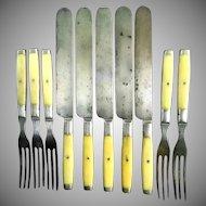 Civil War Era Tableware made by Meriden Cutlery Company Set of 5
