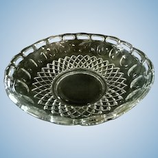 Pierced Fruit Bowl  Clear Glass