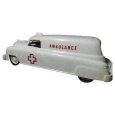 Wyandotte Plastic Ambulance Friction Car