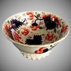 Gaudy Welsh Bowl ** Grape Pattern