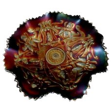 Northwood Wishbone Pattern Carnival Glass Bowl