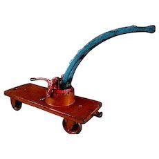 Arcade Railroad Car Crane or Car Wrecker