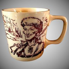Unusual Davy Crockett Ceramic Mug