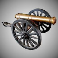 Toy Civil War Era Brass Canon